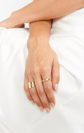 Thick Wrap Ring ~ 24K Gold Plated