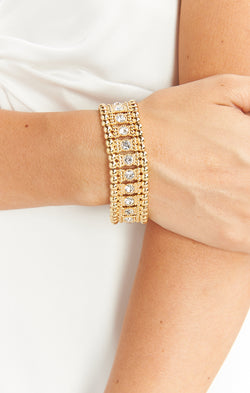 Wonder of You Bracelet ~ Gold/Crystal