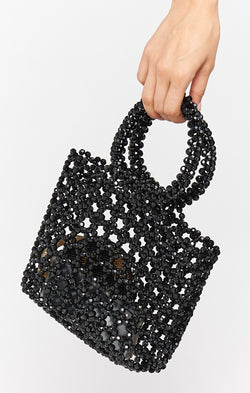 After Hours Beaded Bag ~ Black