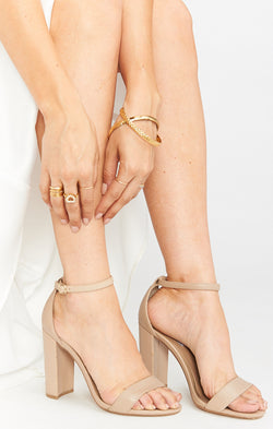 Steve Madden Carrson Heels ~ Blush Leather