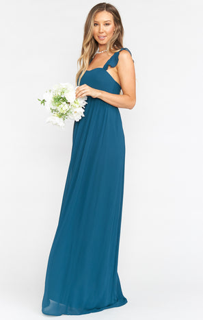 June Maxi Dress ~ Deep Jade Chiffon