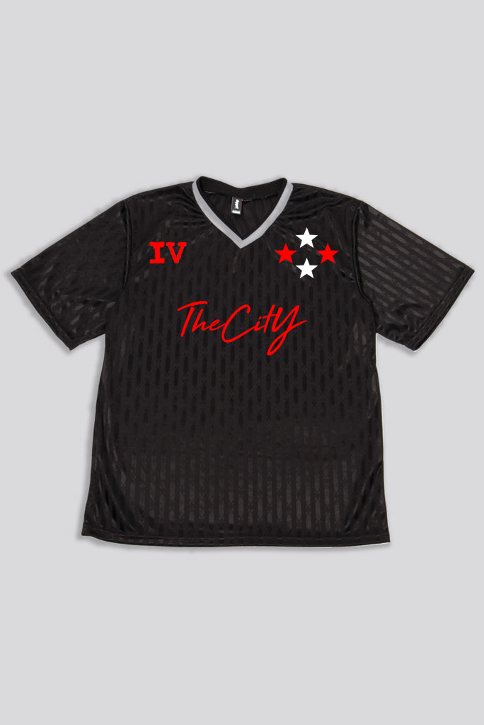 4TC Black & Red Soccer Jersey