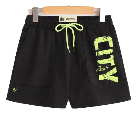 "4TC Black & Neon Green ""Zone 4"" Shorts"