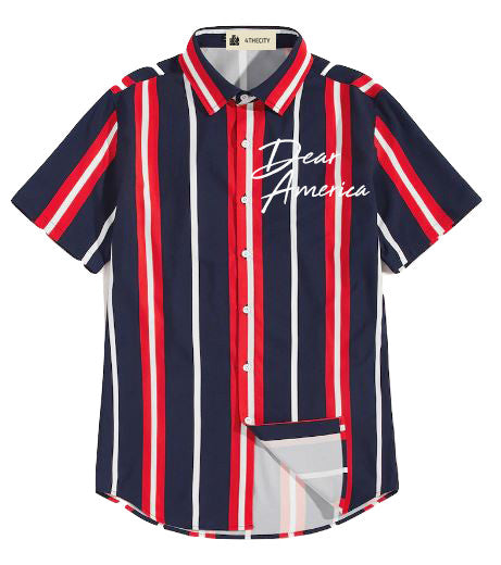 "4TC Blue & Red ""Dear America"" Shirt"