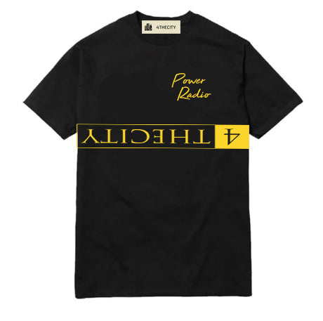 "4TC ""347 Power Radio"" Black T-Shirt"