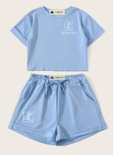 "4TC Light Blue ""Two Piece Set"" Sleepwear"