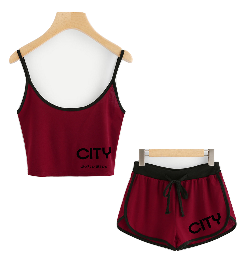 4TC Maroon Sleep Top & Shorts