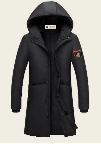 4TC Zip Up Hooded Puffer Coat