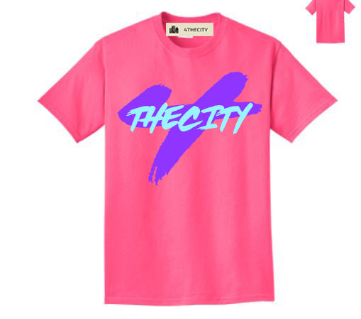 "4TC Neon Pink ""Join The Lifestyle"" T-Shirt"