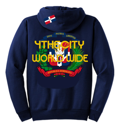 "4TC Navy Blue ""Dominican Coat of Arms"" Hoodie"