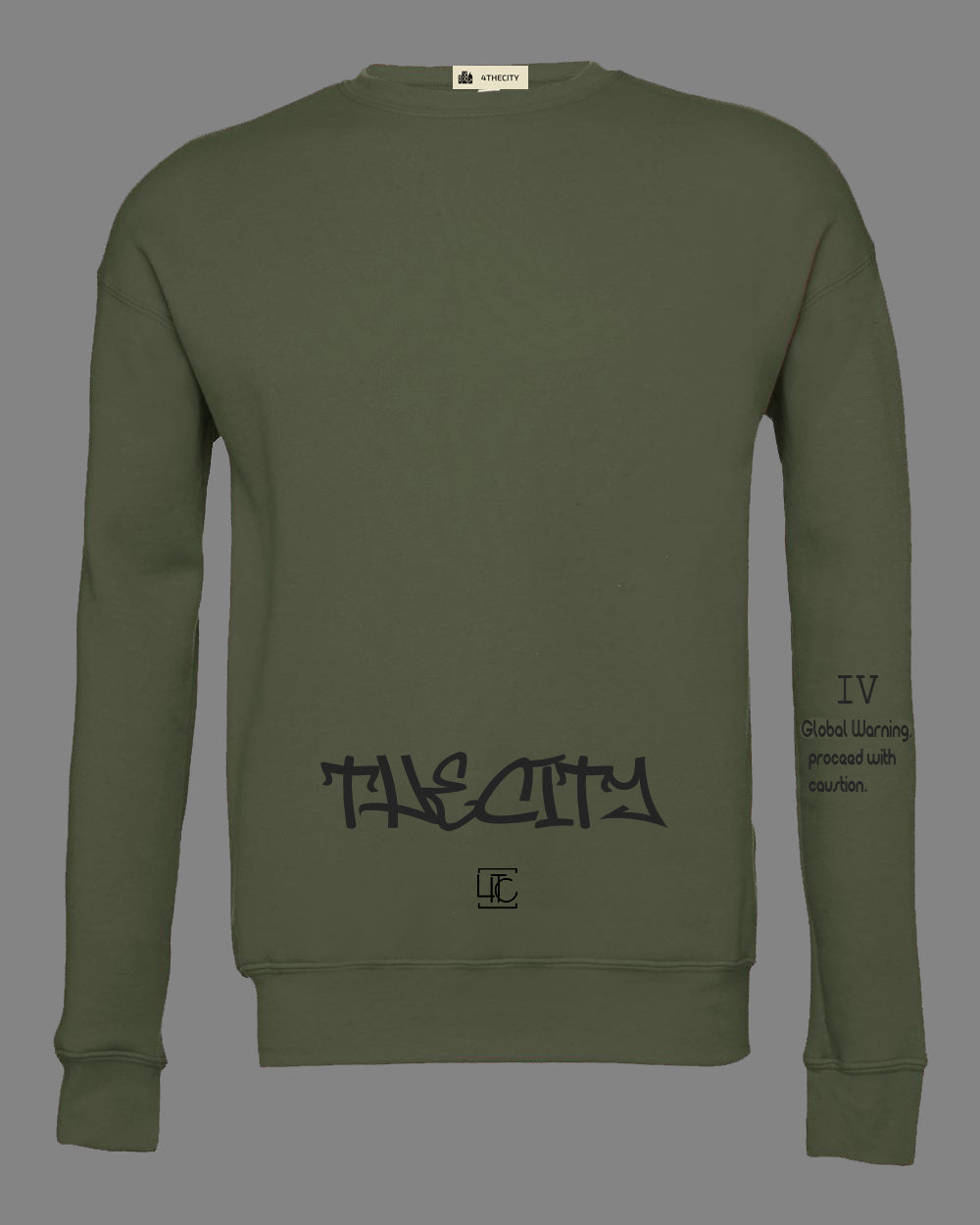 "4TC ""The City"" Olive Green Long sleeve"