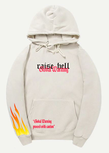 4TC X RAISE HELL Black & Red hoodie