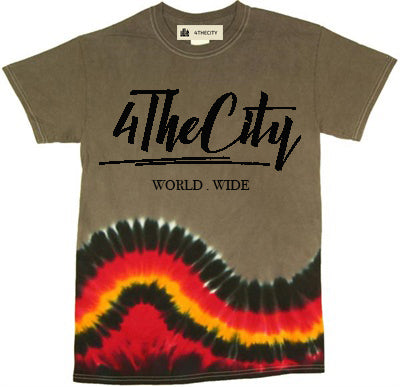 4TC Brown & Red Tie Dye T-Shirt
