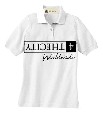 4TC White signature Polo Shirt