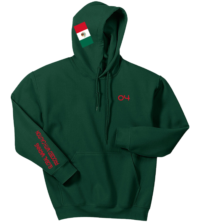 "4TC Green ""Mexico Coat of Arms"" Hoodie"