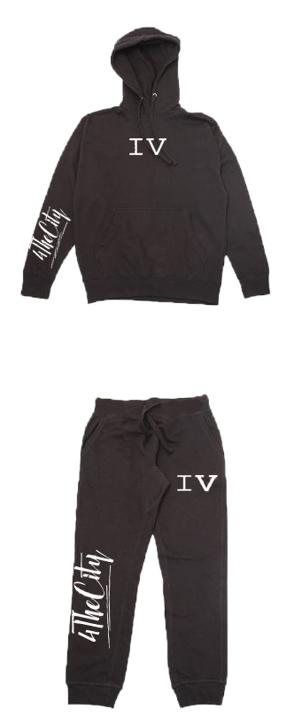 Black 4TC Jogging Suit