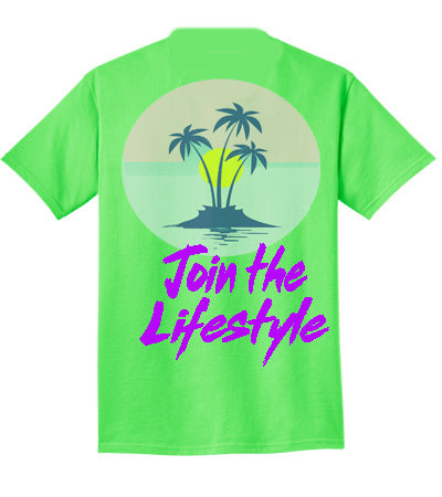 "4TC Neon Green ""Join The Lifestyle"" T-Shirt"