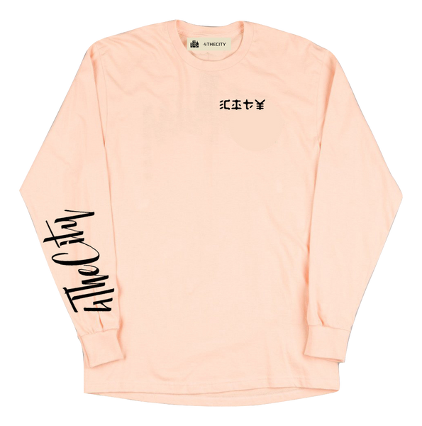 4TC Peach longsleeve T-shirt