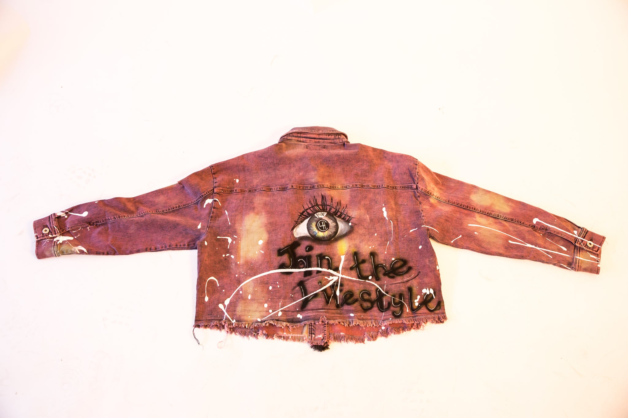 "4TC ""Join the lifestyle"" Washed Denim Jacket"