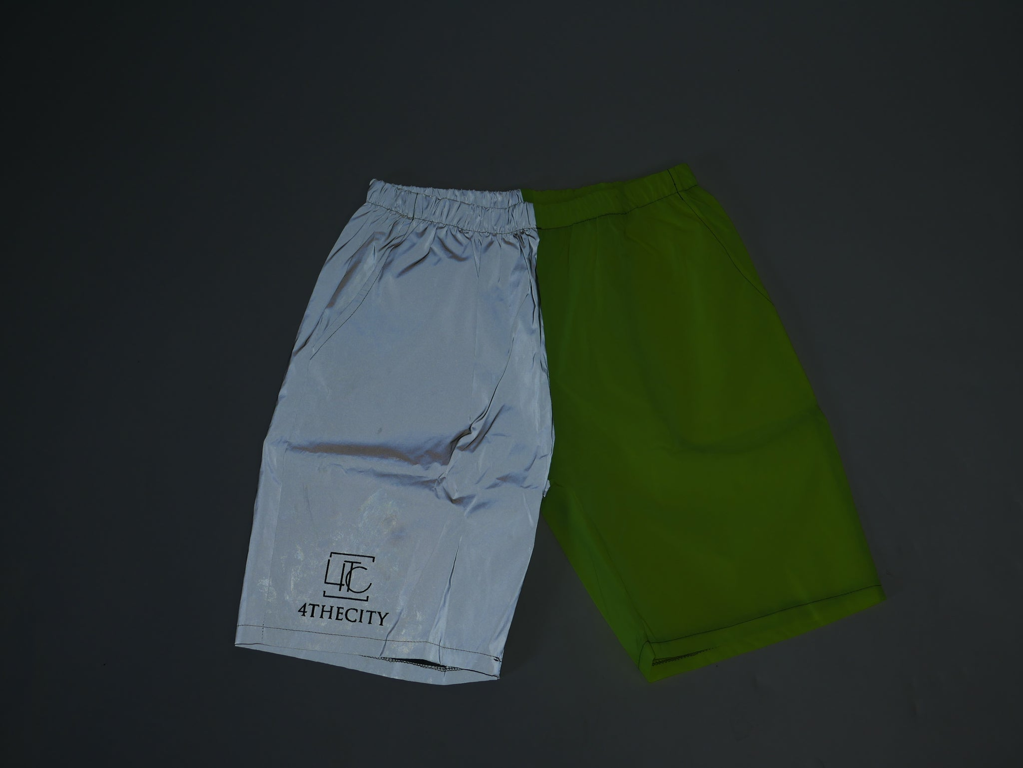 4TC Neon & Grey Reflective Shorts