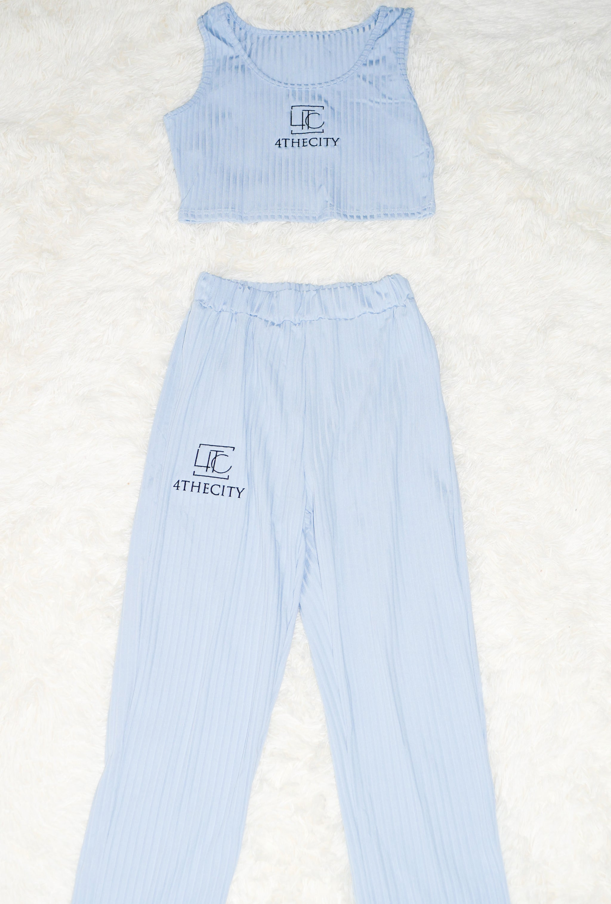 4TC Light Blue Top & Bottom Sleepwear