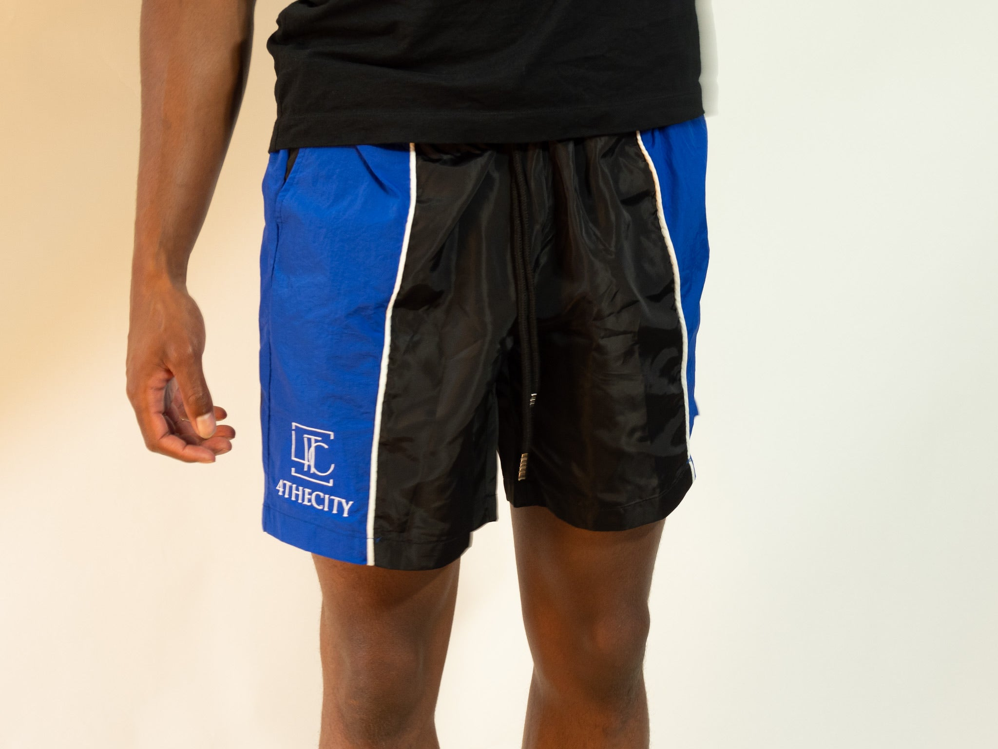 4TC Black & Blue Shorts