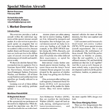 Market Overview: Special Mission Aircraft