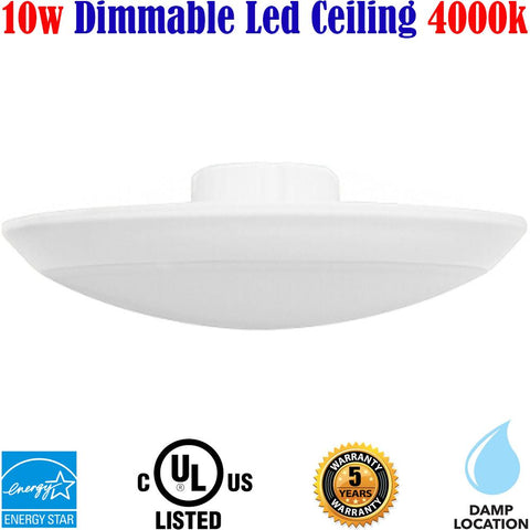 Led Ceiling Lights Canada: 10w 4000k Basement Hallway Bathroom Stairs - LED Light World