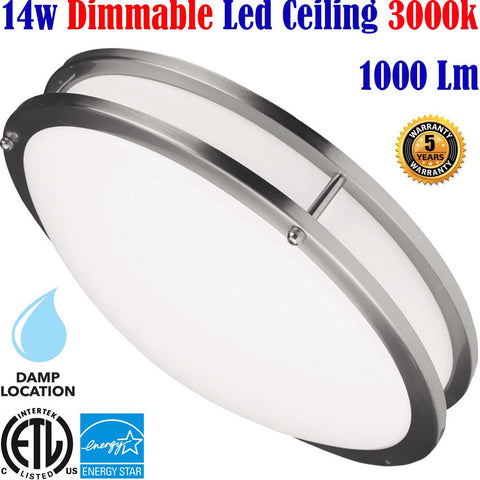 Bedroom Ceiling Lights Canada: Led 14w 3000k Bathroom Kitchen Hallway
