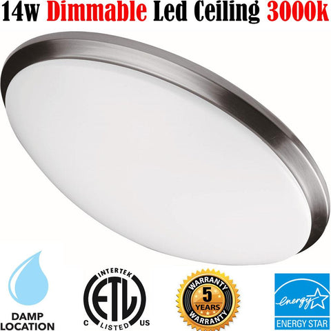 Bedroom Ceiling Lights, Canada Led 14w 3000k Bathroom Hallway Kitchen Stairs - LED Light World