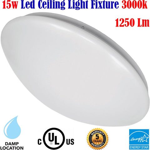 Ceiling Light Fixtures Canada 15w 3000k Kitchen Stair Hallway Bedroom Bathroom - LED Light World