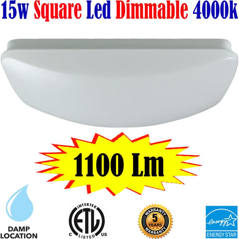 Dining Room Light Fixtures: Canada Led 15w 4000k Kitchen Bedroom Bathroom - LED Light World