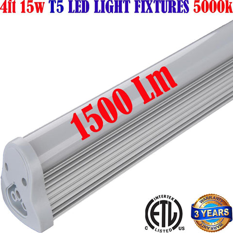 Hardwired Led Shop Lights: Canada 15w 5000k Garage Workshop Linkable 120V - LED Light Canada