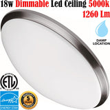 Kitchen Ceiling Light Fixtures: Canada Led 18w 5000k Bedroom Hallway - LED Light World