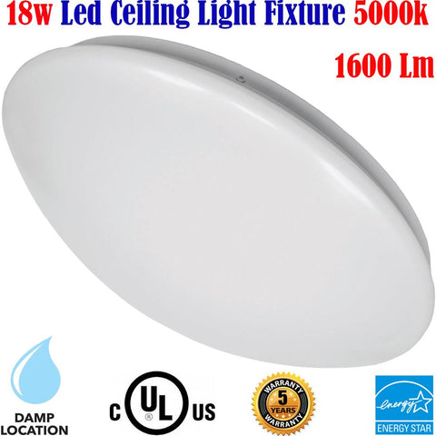 Ceiling Light Fixtures Canada 18w 5000k Dining Room Bathroom Bedroom - LED Light World