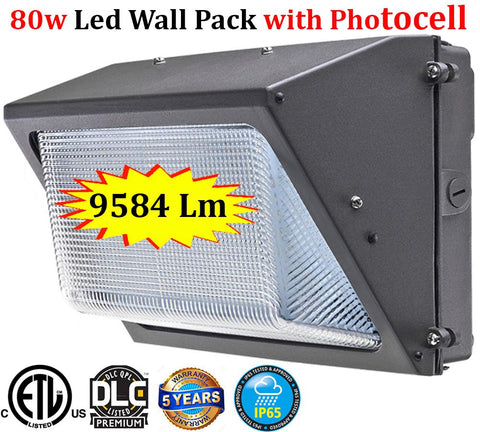 Exterior Lighting Canada: 80w 5000k Led Outdoor Garage Yard Security - LED Light World