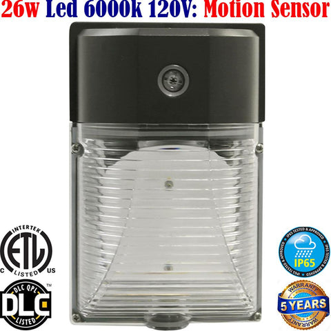 Outdoor Motion Sensor Light: Canada 26w 6000k Brightest Garage Porch - LED Light World