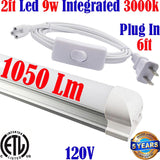 Led Under Cabinet Lighting Hardwired: Canada T8 2ft 9w 3000k Kitchen Home - LED Light World