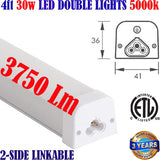 4 foot Led Shop Lights, Canada: Led 4ft 30w 5000k 3750Lm Garage Home Basement - LED Light Canada