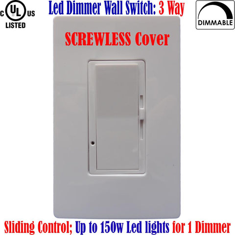 3 Way Led Dimmer Switch: Canada Screwless Dimmable 150w 120V - LED Light World