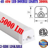 Basement Light Fixtures: Canada 4ft 40w 5000Lm 3000k Shop Garage Linkable B - LED Light World