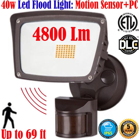 Outdoor Motion Sensor Light: Canada 40w 6000k Bright Garage Porch Yard - LED Light World
