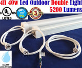 Outdoor Led Sign Lights, Canada: 2 pack 4ft 40w Clear 6500k Brightest 5200Lm Garage - LED Light Canada