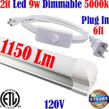 Kitchen Under Cabinet Lighting: Canada: T8 2ft 9w Dimmable 5000k Shop Garage - LED Light Canada