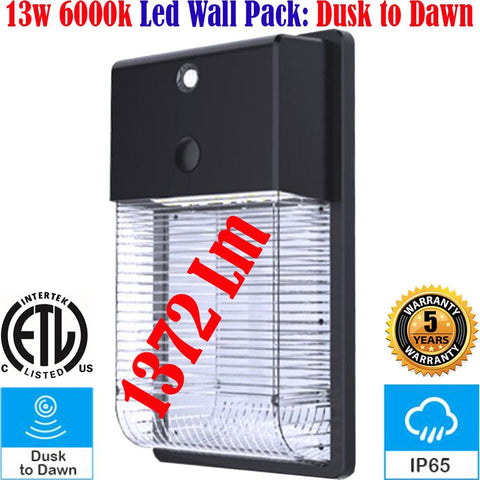 Led Outdoor Wall Lights, Canada 13w 6000k Dusk to Dawn Exterior House Wall - LED Light World