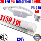 Led Under Cabinet Lighting Direct Wire: Canada T8 2ft 9w 6500k Kitchen Shop - LED Light World