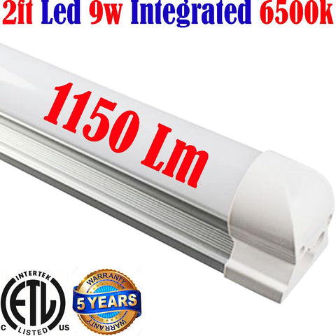 Led Garage Lights Canada: T8 2ft 9w 6500k Shop Kitchen Workshop - LED Light World