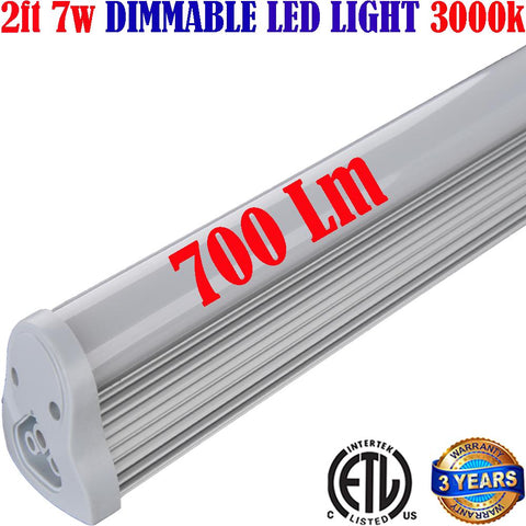 Dimmable Led Under Cabinet Lighting: Canada 2ft 7w 3000k Hardwired 120V - LED Light World