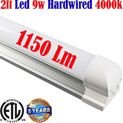 Under Counter Led Lights Hardwired, Canada: T8 2ft 9w 4000k Shop Kitchen Garage - LED Light World