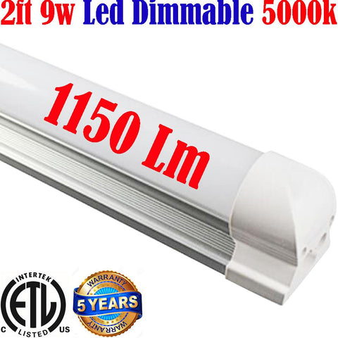 Dimmable Under Cabinet Lighting: Canada Led 2ft 9w 5000k Hardwired 120V